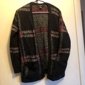 Plaid Forever 21 Knitted Cardigan